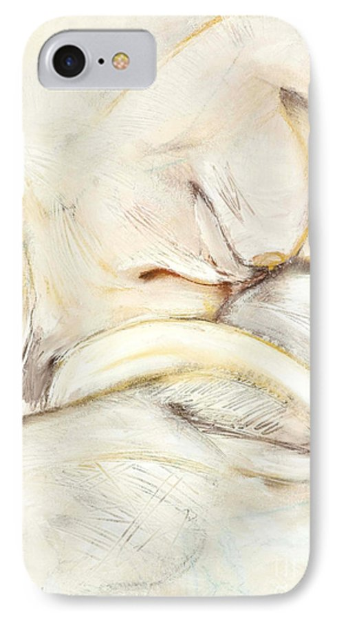 Female IPhone 7 Case featuring the drawing Award Winning Abstract Nude by Kerryn Madsen-Pietsch