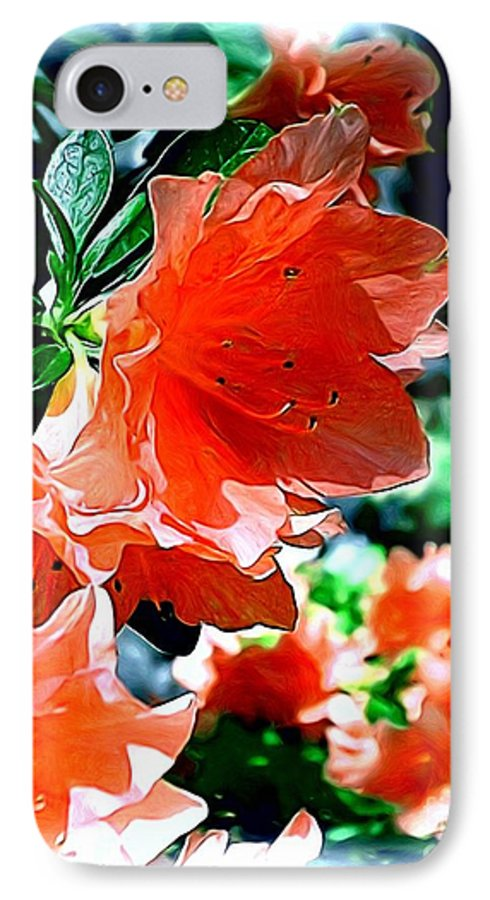 Fine Art IPhone 7 Case featuring the painting Azaleas In The Spring by Patricia Griffin Brett