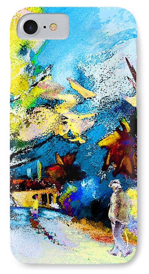 Pastel Painting IPhone 7 Case featuring the painting Back Home by Miki De Goodaboom