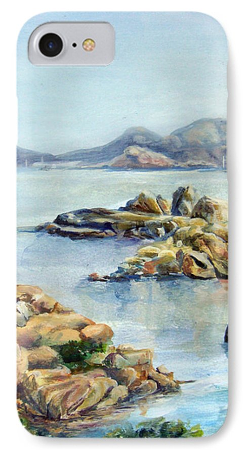 Landscape IPhone 7 Case featuring the painting Baie by Muriel Dolemieux