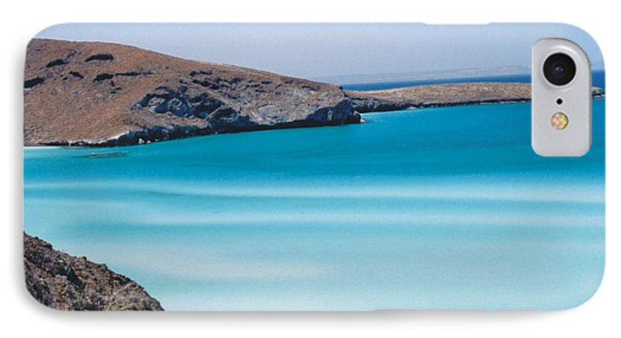 Blue IPhone 7 Case featuring the photograph Balandra Bay by Kathy Schumann