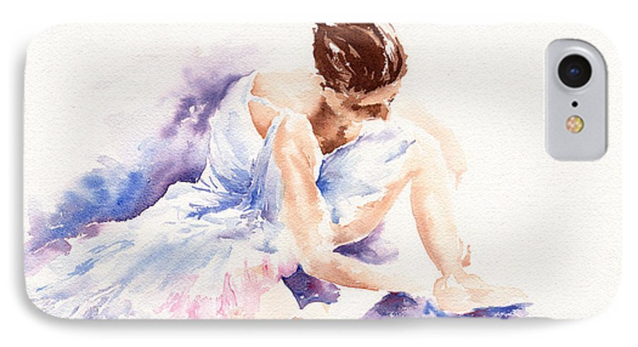 Ballerina IPhone 7 Case featuring the painting Ballerina by Stephie Butler