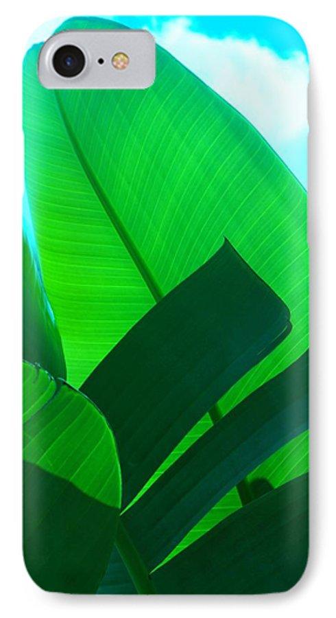 Botanical IPhone 7 Case featuring the photograph Banana Aqua by Florene Welebny