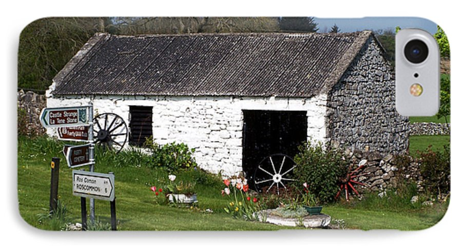 Ireland IPhone 7 Case featuring the photograph Barn At Fuerty Church Roscommon Ireland by Teresa Mucha
