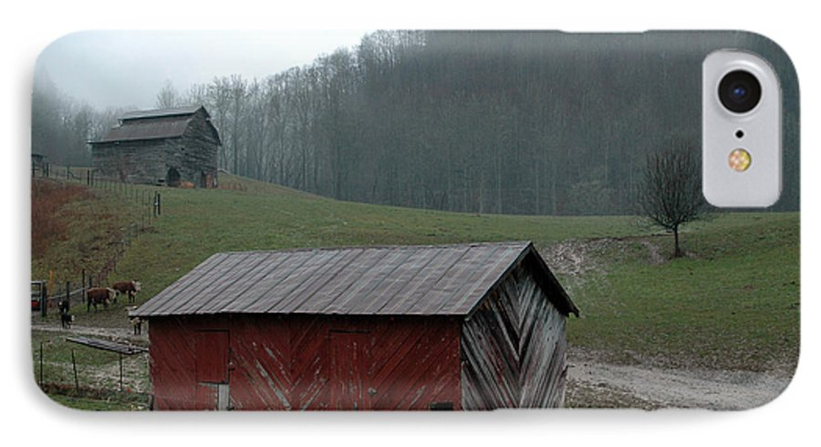 Barn IPhone 7 Case featuring the photograph Barn At Stecoah by Kathy Schumann