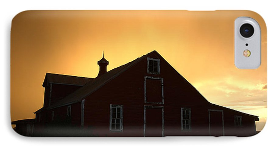 Barn IPhone 7 Case featuring the photograph Barn At Sunset by Jerry McElroy
