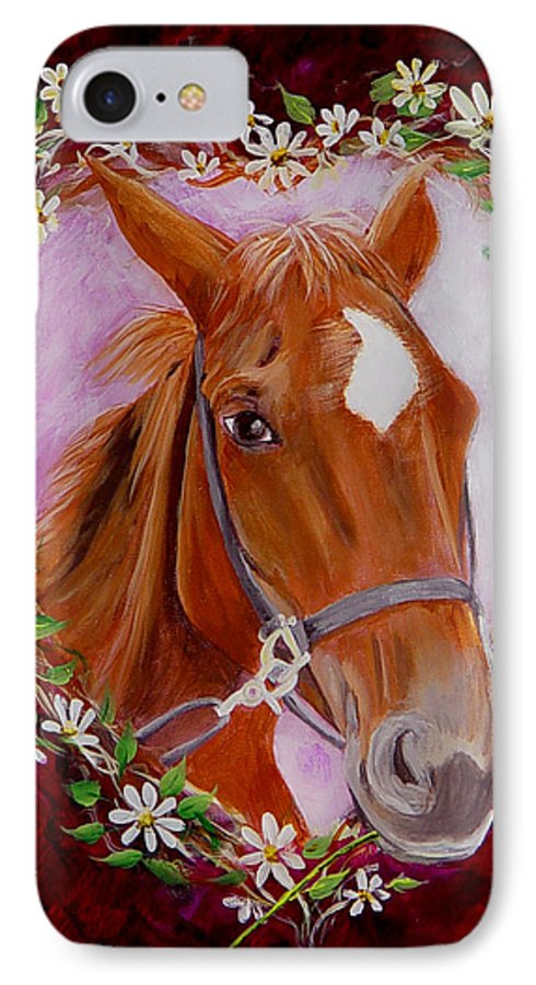 Horse IPhone 7 Case featuring the painting Batuque by Quwatha Valentine