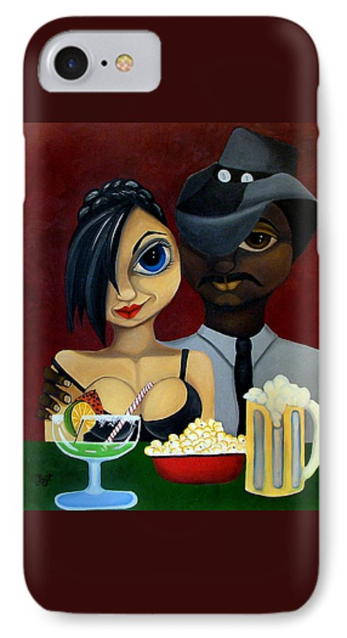 Sweethearts IPhone 7 Case featuring the painting Be My Valentine by Elizabeth Lisy Figueroa