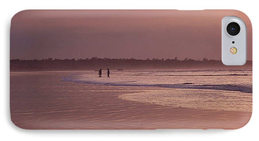 Ecuador IPhone 7 Case featuring the photograph Beachcombers by Kathy McClure