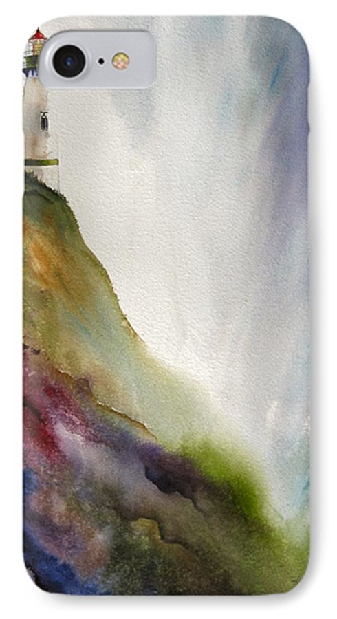 Lighthouse IPhone 7 Case featuring the painting Beacon by Karen Stark