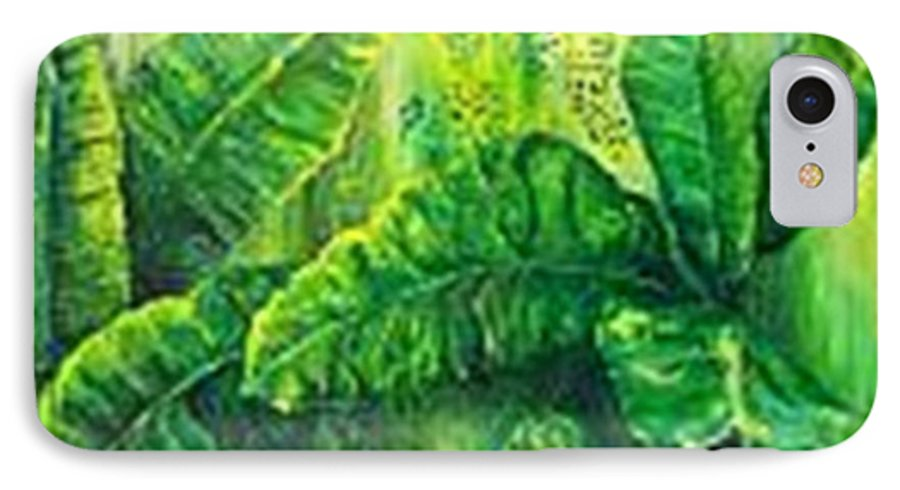 IPhone 7 Case featuring the painting Beautiful Banana Leaves by Carol P Kingsley