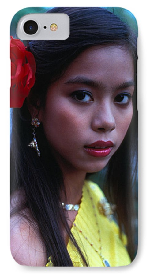 Girl IPhone 7 Case featuring the photograph Beautiful Thai Girl by Carl Purcell
