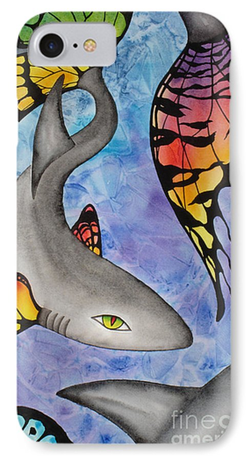 Surreal IPhone Case featuring the painting Beauty In The Beasts by Lucy Arnold