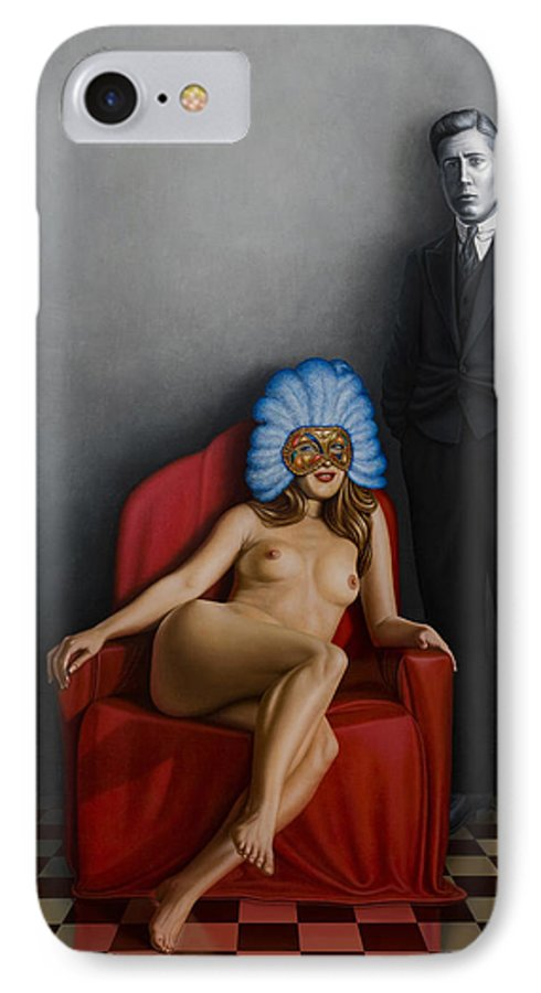 Nude IPhone 7 Case featuring the painting Beauty Of The Carnival by Horacio Cardozo
