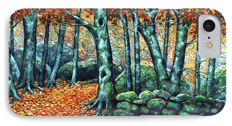 Landscape IPhone 7 Case featuring the painting Beech Woods by Frank Wilson