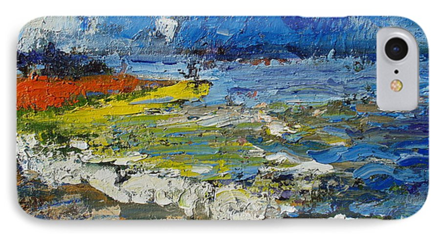 Beach Paintings IPhone 7 Case featuring the painting Before Storm by Seon-Jeong Kim
