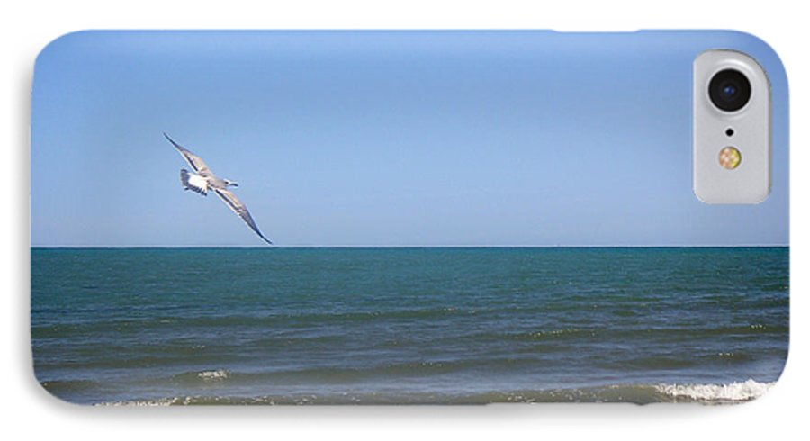 Nature IPhone 7 Case featuring the photograph Being One With The Gulf - Soaring by Lucyna A M Green