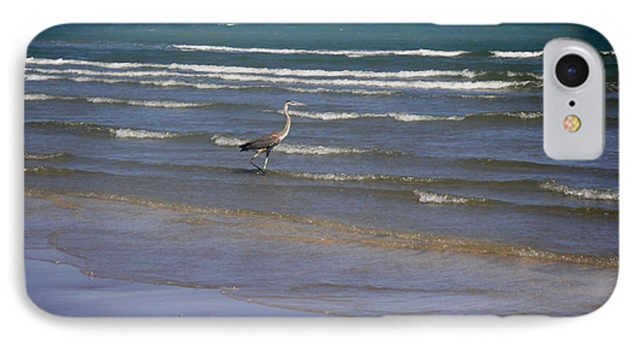 Nature IPhone 7 Case featuring the photograph Being One With The Gulf - Wading by Lucyna A M Green