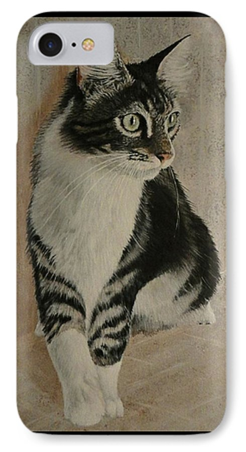 Painting IPhone 7 Case featuring the painting Beloved Friend by Sheryl Gallant