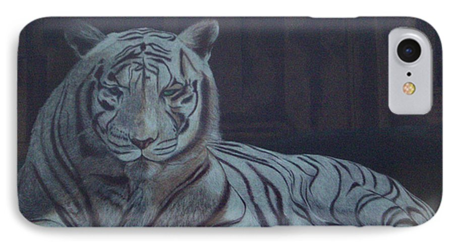 Wild Live IPhone 7 Case featuring the painting Bengala Tiger by Fanny Diaz