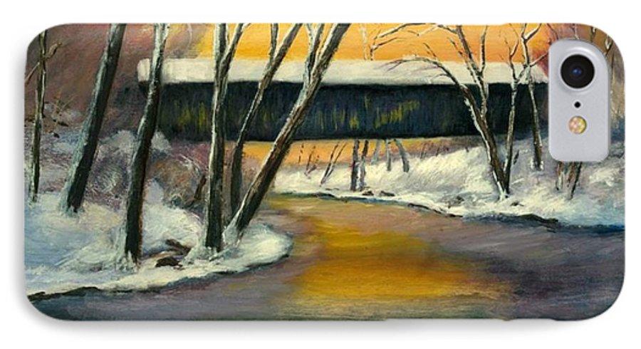 Kentucky IPhone 7 Case featuring the painting Bennett by Gail Kirtz