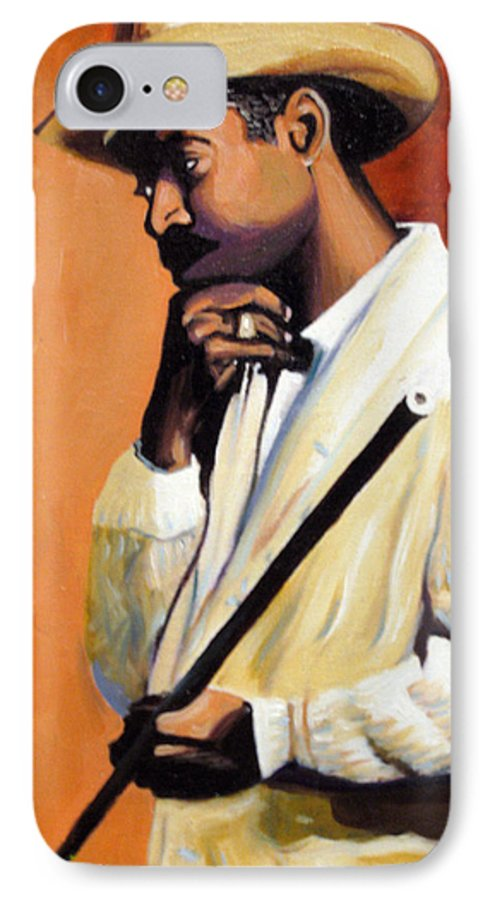 Cuban Art IPhone 7 Case featuring the painting Benny 2 by Jose Manuel Abraham