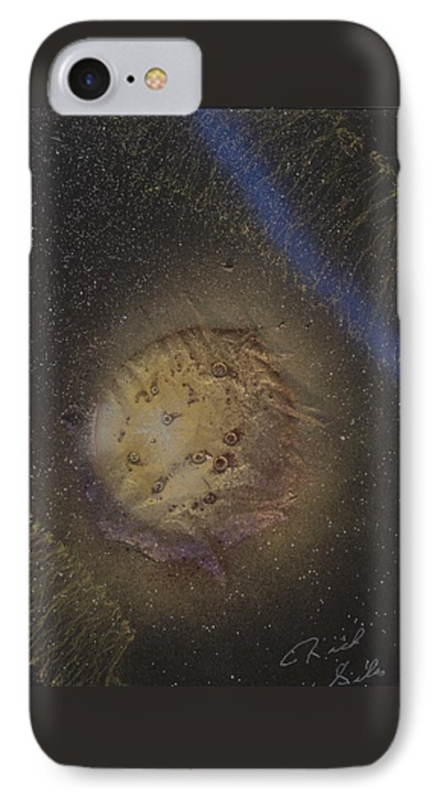 Glass IPhone 7 Case featuring the painting Beyond by Rick Silas