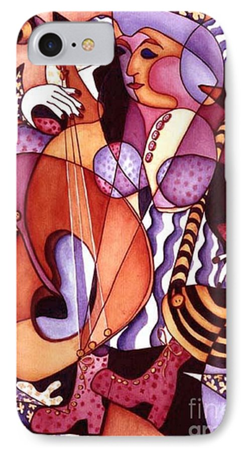 Whimsical IPhone 7 Case featuring the painting Big Bertha by Arleen Barton