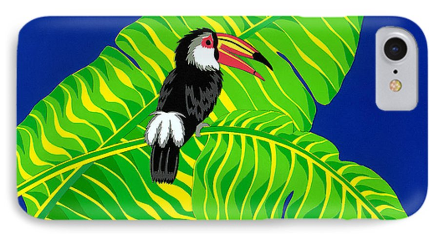Nature IPhone 7 Case featuring the drawing Big Billed Bird by Lucyna A M Green