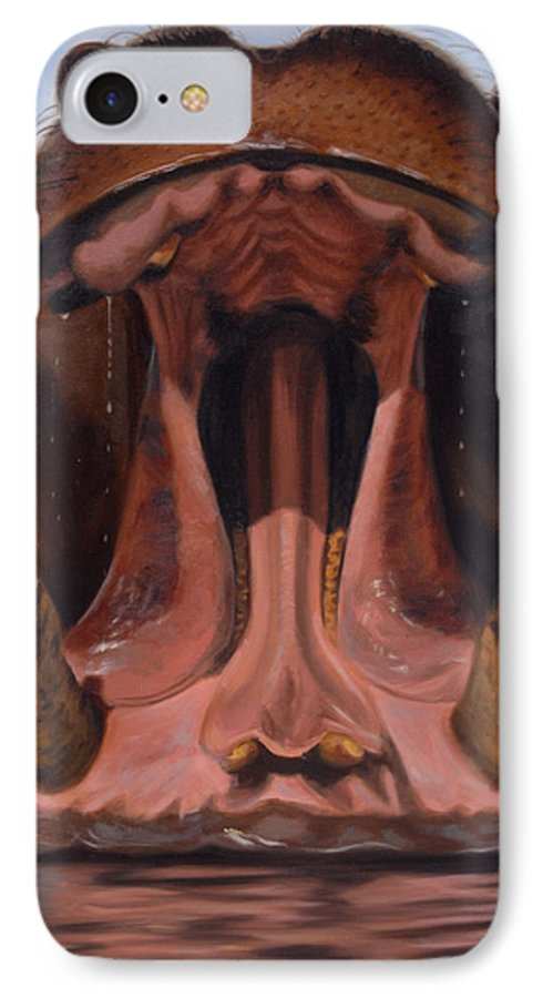 Painting IPhone 7 Case featuring the painting Big Mouth by Greg Neal