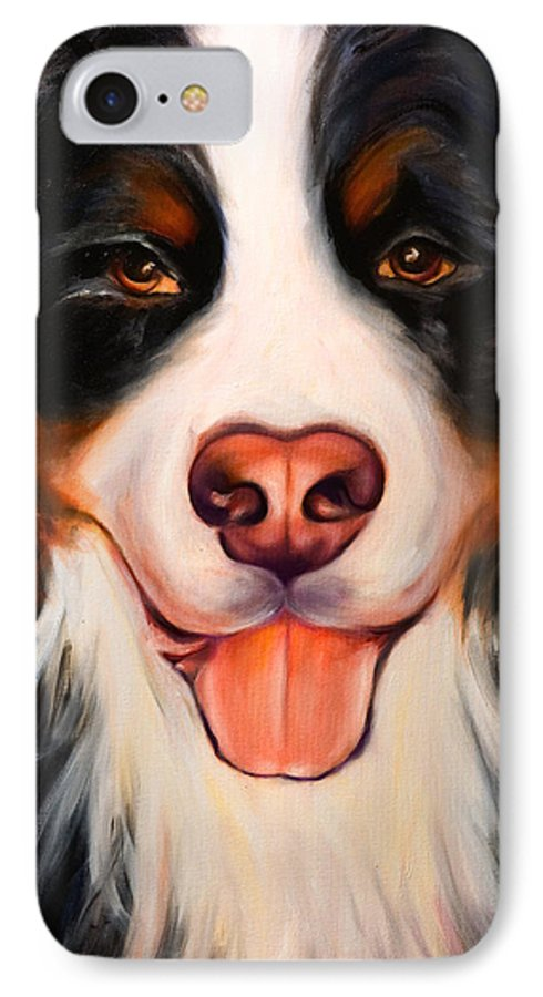 Dog IPhone 7 Case featuring the painting Big Willie by Shannon Grissom