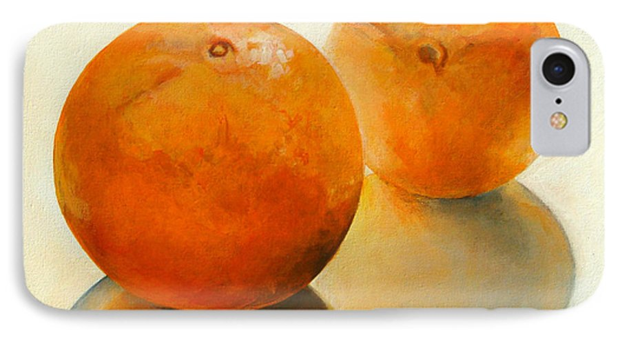 Still Life IPhone 7 Case featuring the painting Billes Oranges by Muriel Dolemieux
