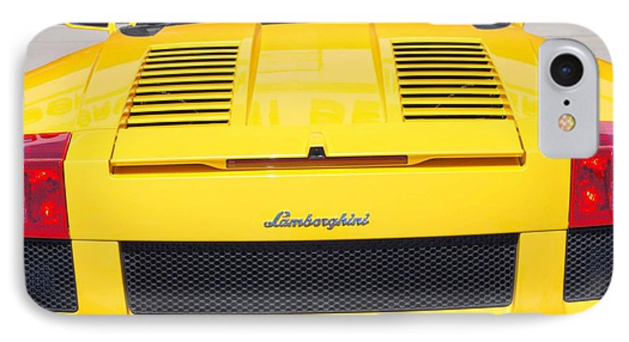 Wheels IPhone 7 Case featuring the photograph Bill's Lambo by Margaret Fortunato