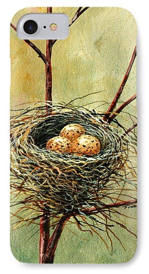 Still Life IPhone 7 Case featuring the painting Bird Nest by Frank Wilson