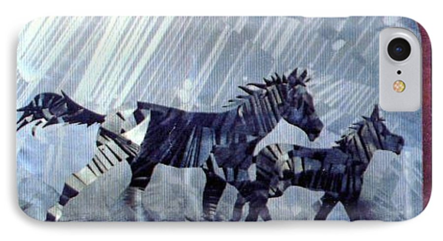 Wildlife IPhone 7 Case featuring the painting Black And White Nineteen Fifty Six by Rick Silas