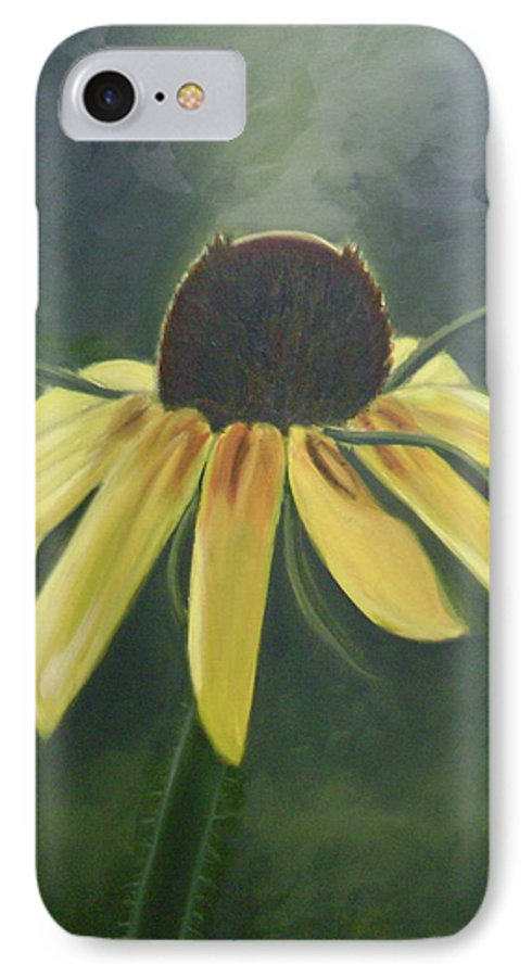 Flower IPhone 7 Case featuring the painting Black Eyed Susan by Toni Berry