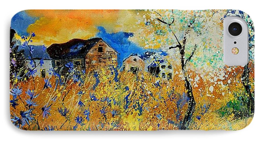 Poppies IPhone 7 Case featuring the painting Blooming Trees by Pol Ledent