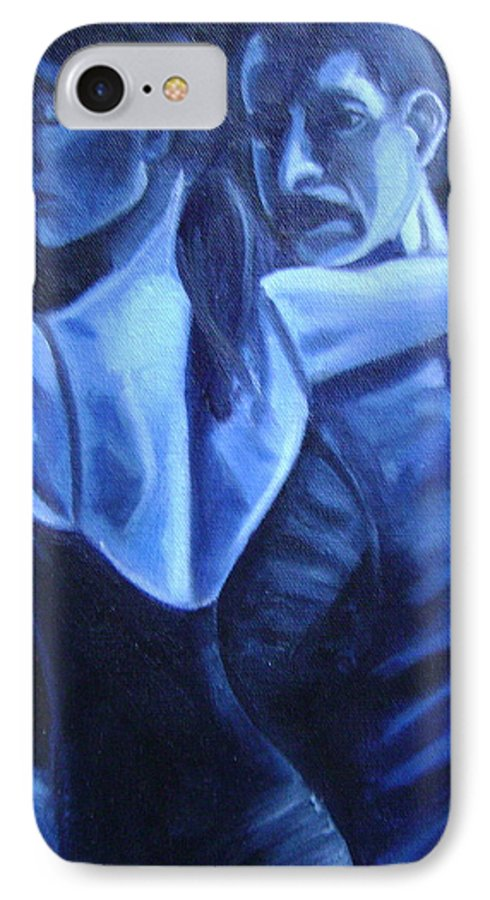 IPhone 7 Case featuring the painting Bludance by Toni Berry
