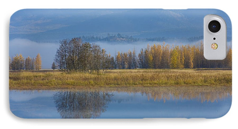 Blue IPhone 7 Case featuring the photograph Blue And Gold by Idaho Scenic Images Linda Lantzy