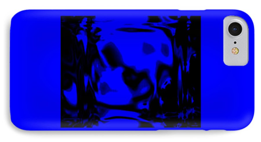Aupre.com Hypermorphic Arthouse Unique Original Digital Art Made By The Hari Rama IPhone 7 Case featuring the painting Blue Fashion by The Hari Rama