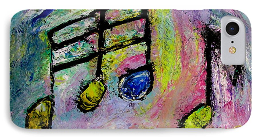 Impressionist IPhone 7 Case featuring the painting Blue Note by Anita Burgermeister
