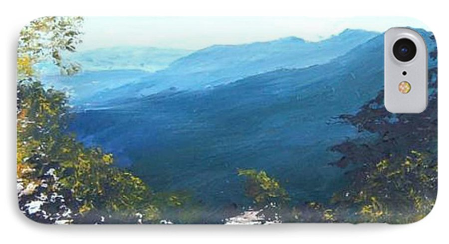 Landscape IPhone 7 Case featuring the painting Blue Ridge by Tami Booher