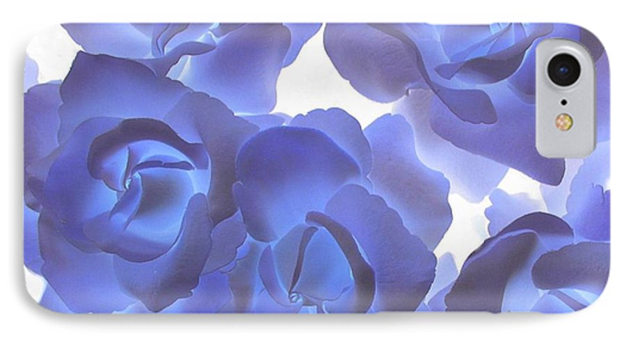 Blue IPhone 7 Case featuring the photograph Blue Roses by Tom Reynen