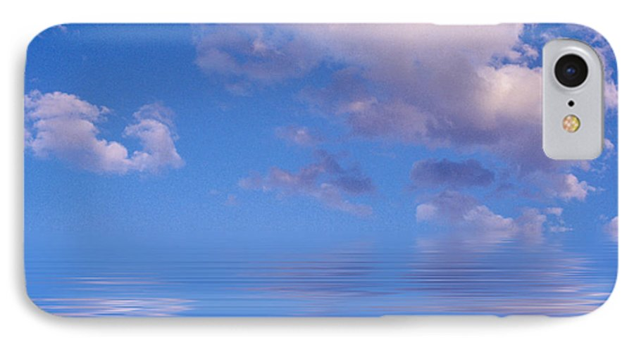 Original Art IPhone 7 Case featuring the photograph Blue Sky Reflections by Jerry McElroy