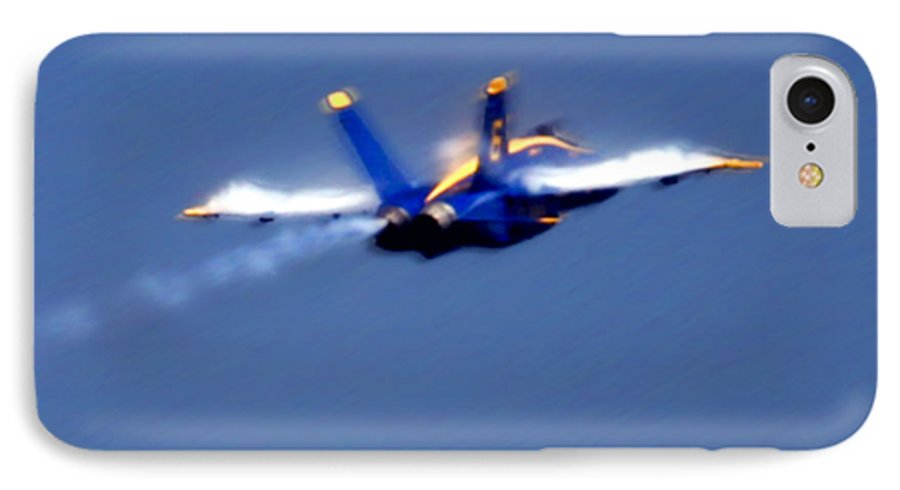 Blue Angles IPhone 7 Case featuring the photograph Blue Solo by Larry Keahey