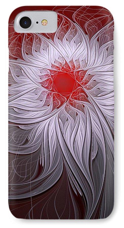 Digital Art IPhone 7 Case featuring the digital art Blush by Amanda Moore