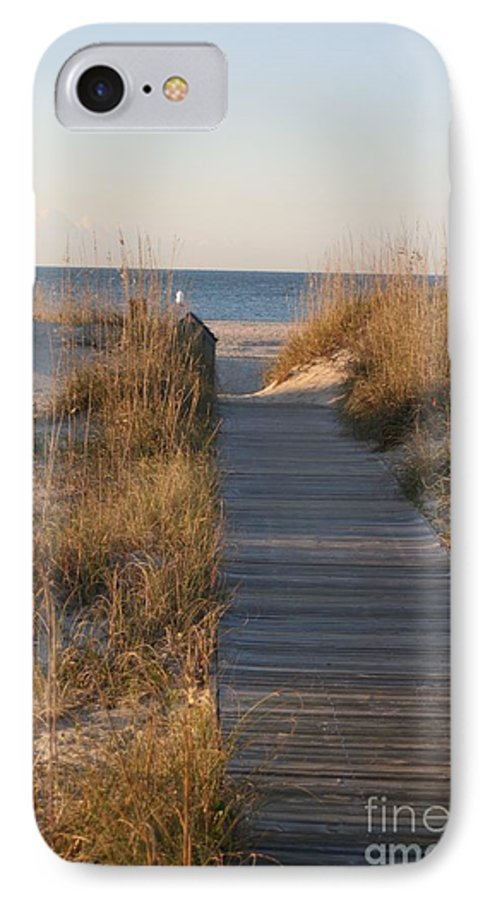 Boardwalk IPhone 7 Case featuring the photograph Boardwalk To The Beach by Nadine Rippelmeyer