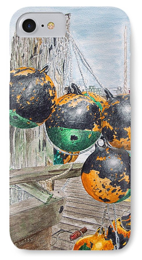 Boat Bumpers IPhone 7 Case featuring the painting Boat Bumpers by Dominic White