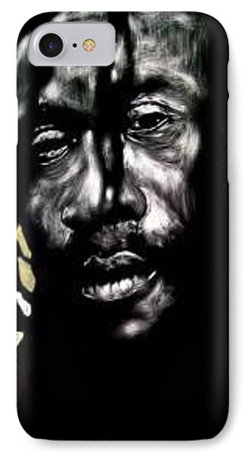 Portrait IPhone 7 Case featuring the mixed media Bob Na I by Chester Elmore