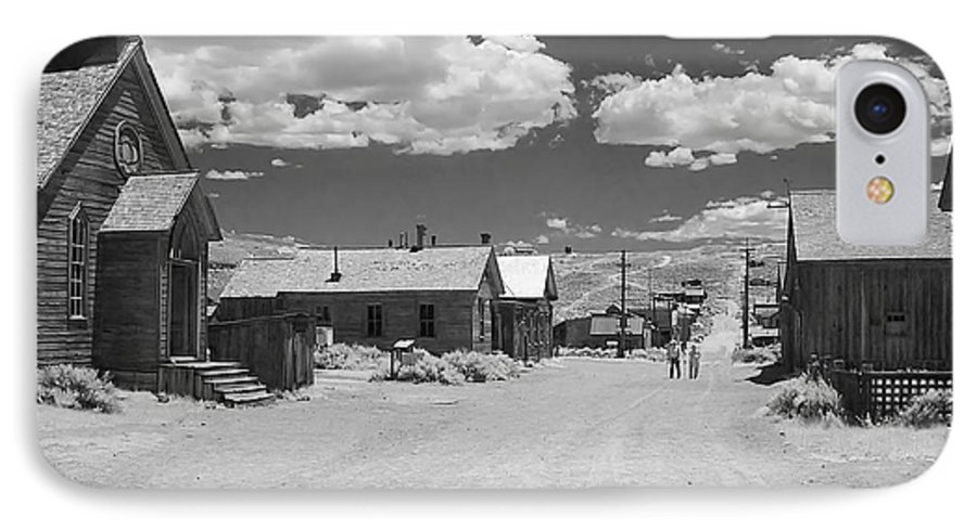 Ghost Town IPhone 7 Case featuring the photograph Bodie A Ghost Town Infrared by Christine Till